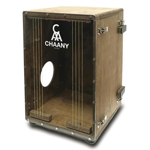 CHAANYの折りたたみカホンBolso オプションの取手(組み立てた状態)